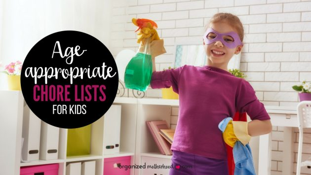 When should kids start chores? This list of age-appropriate chores tells which chores your kids should do based on their age and grade level. It's perfect to teach your children to have a better work ethic!