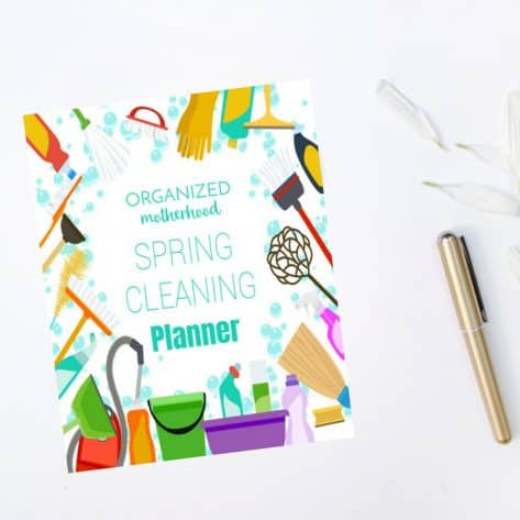 With checklists for each room, you'll be able to clean your entire home from top to bottom with the Organized Motherhood Cleaning Planner.