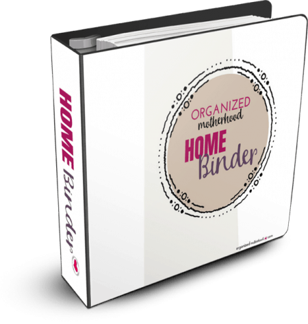 Organize your home and your life with the Organized Motherhood Home Binder. With 40+ pages, it's everything you need to plan your meals, track your family's health records, make a budget, and save notes for the babysitter.