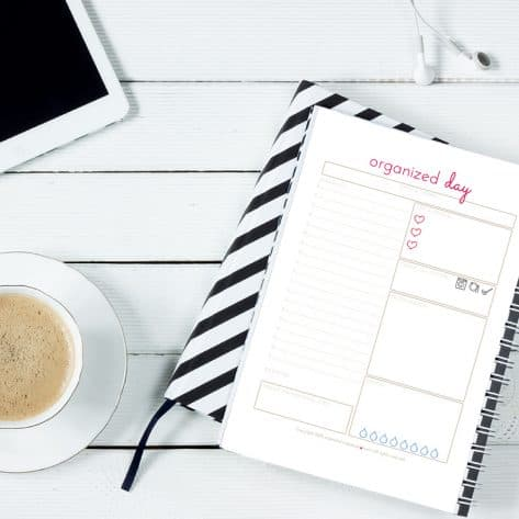Create a daily routine and time block your day to stay productive and organized as a WAHM.