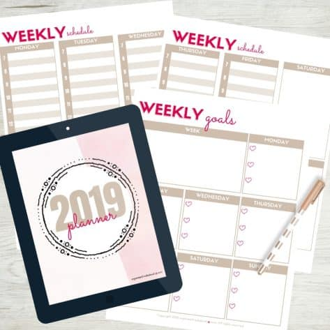 Create a schedule with the Organized Motherhood Planner.