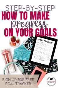 Struggling to reach your goals? These step-by-step tips will help you set your goals, break them down, and track them so you finally crush your goals.