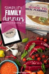The Ultimate Guide to Meal Planning has everything you need to make dinner simple. With weekly and monthly meal planning pages, kitchen inventory sheets, and simple and delicious recipes, you'll have everything you need!