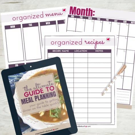 These weekly and monthly meal planners from The Ultimate Guide to Meal Planning are simple to use and have great tips to make meal planning and prep easy!