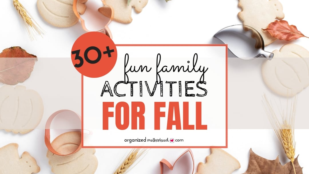 Over 30 activities to do as a family this fall. Whether you have little or older kids, there's something for everyone on this list. Enjoy the cooler weather and celebrate Halloween and Thanksgiving with these fun family activities.