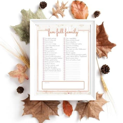 These fall activities for families are so much fun. Download this free printable bucket list and get started today!