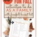 These fall activities are perfect to do as a family. Make your fall bucket list and use the free printable checklist to enjoy the season.