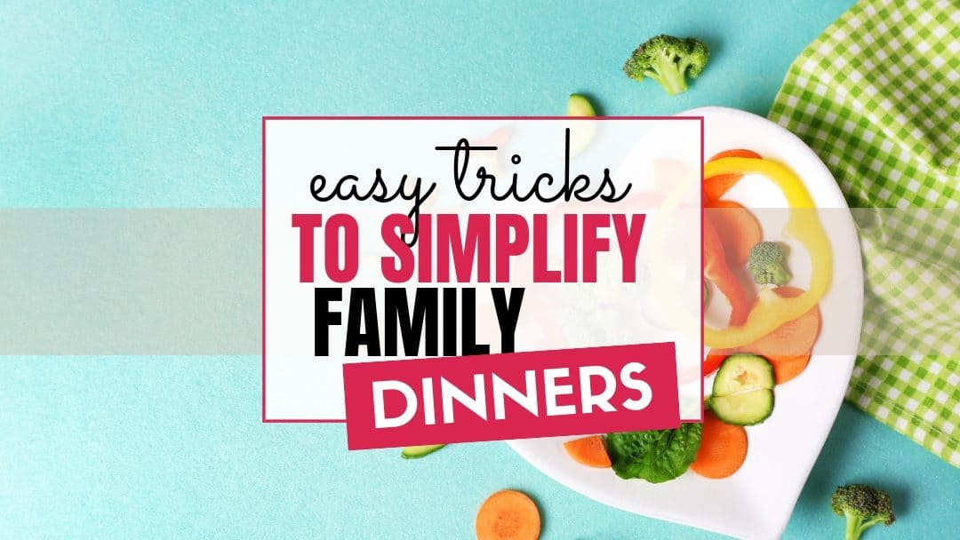 Struggling to get dinner on the table quickly? These tips to meal plan and prepare dinner quickly are perfect to make fast and easy recipes for your family.