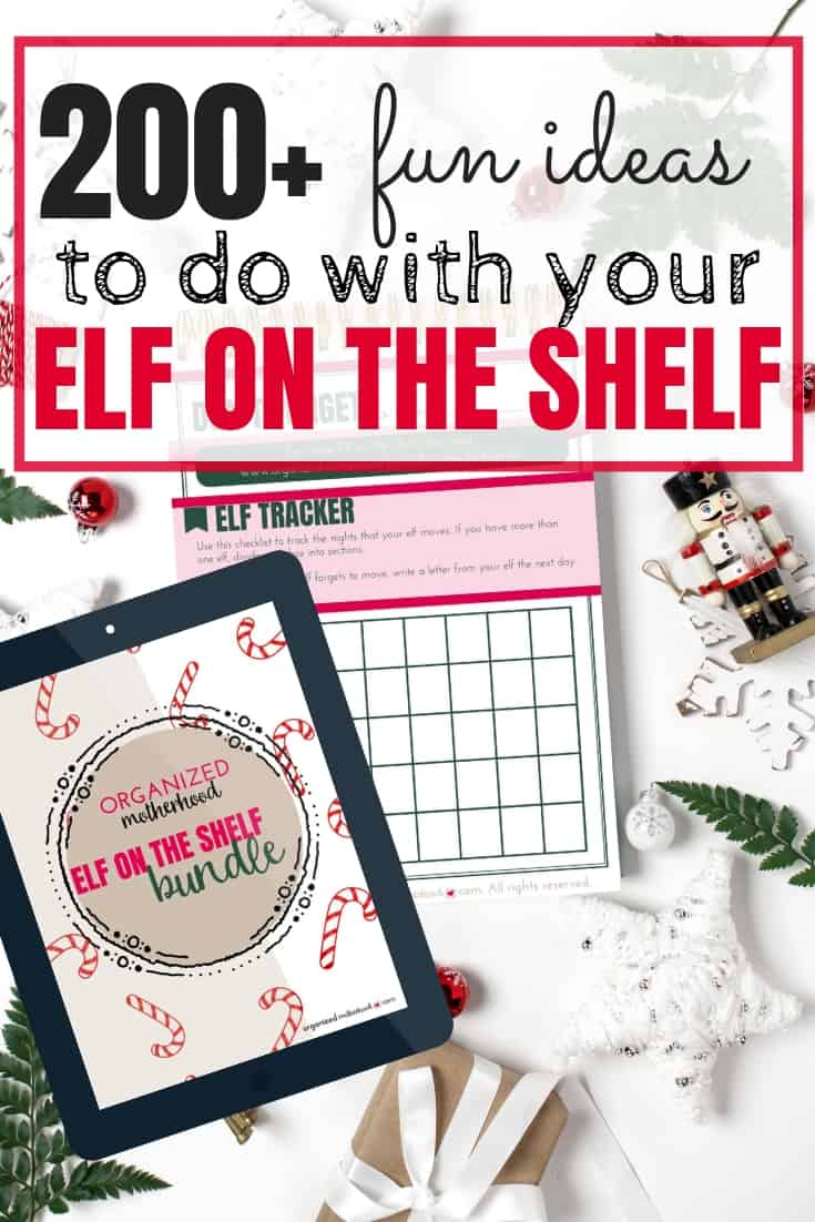 Stay organized this Christmas (and never forget to move your Elf again) with these great tips and ideas for your Elf on a Shelf. There's even a pack of free printable letters and behavior charts to use for your kids. #christmascrafts #elfontheshelfideas