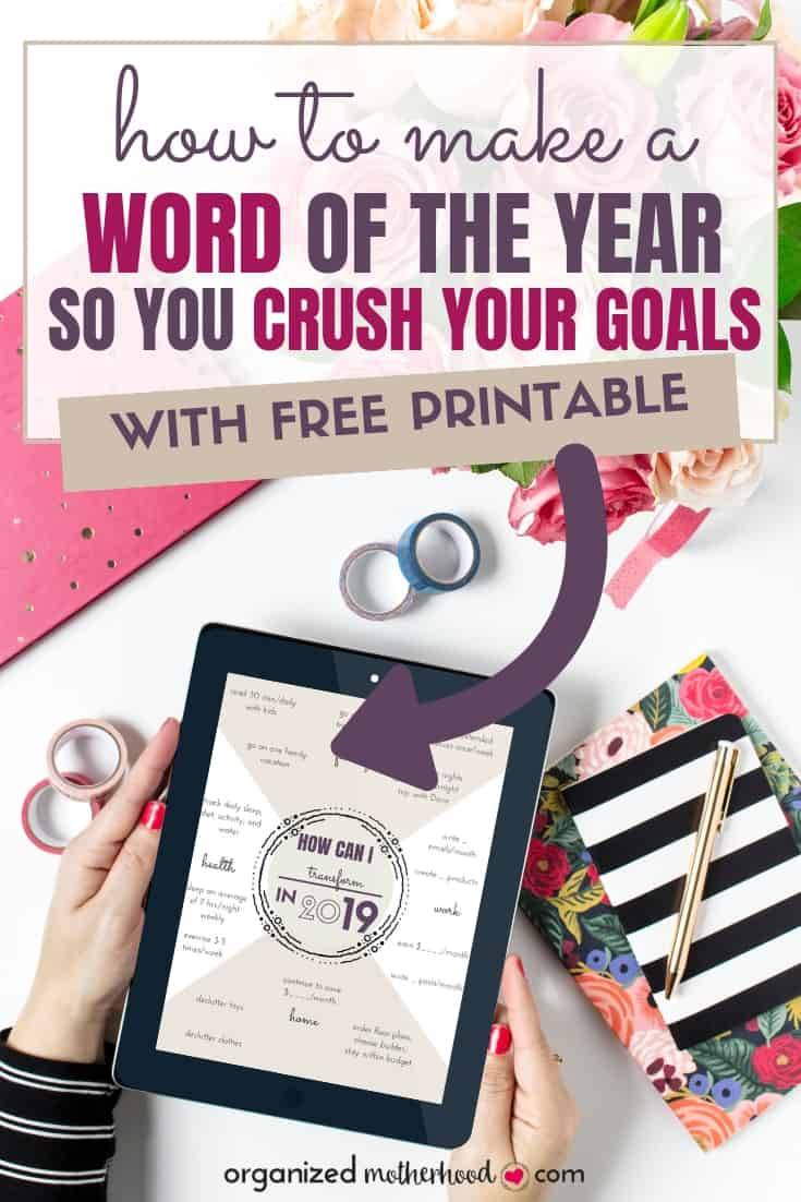Struggling to set and reach your goals? Here's how to set goals for every area of your life by using a word of the year. Download the free printable as inspiration for your goals.