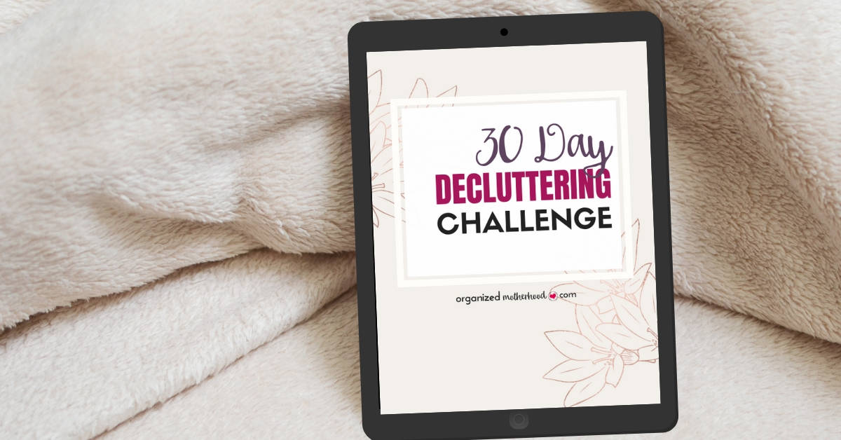 Sign up for the free 30 day decluttering challenge and finally declutter and organize your home.
