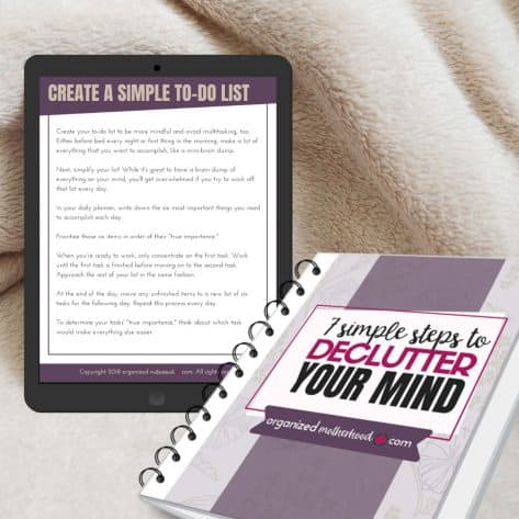 Declutter You Mind Workbook