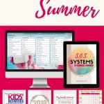Organize Summer Printable Pages