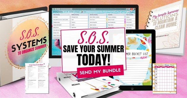 Systems to Organize Summer printable pack