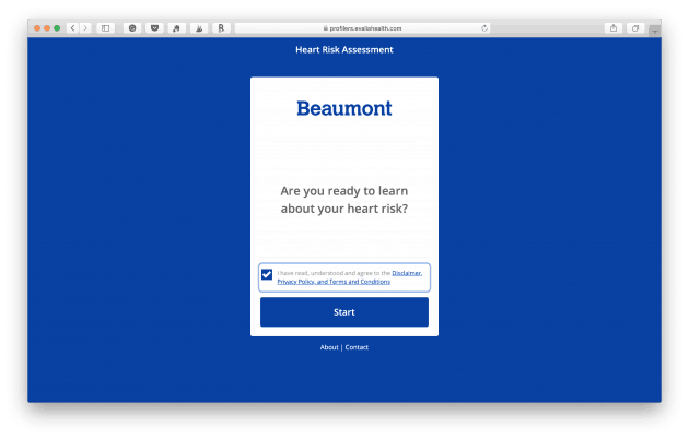 Beaumont Heart Risk Assessment