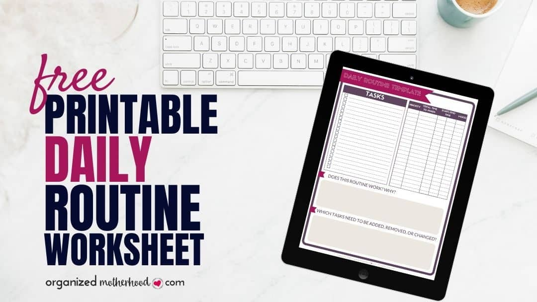 Printable Daily Routine Template