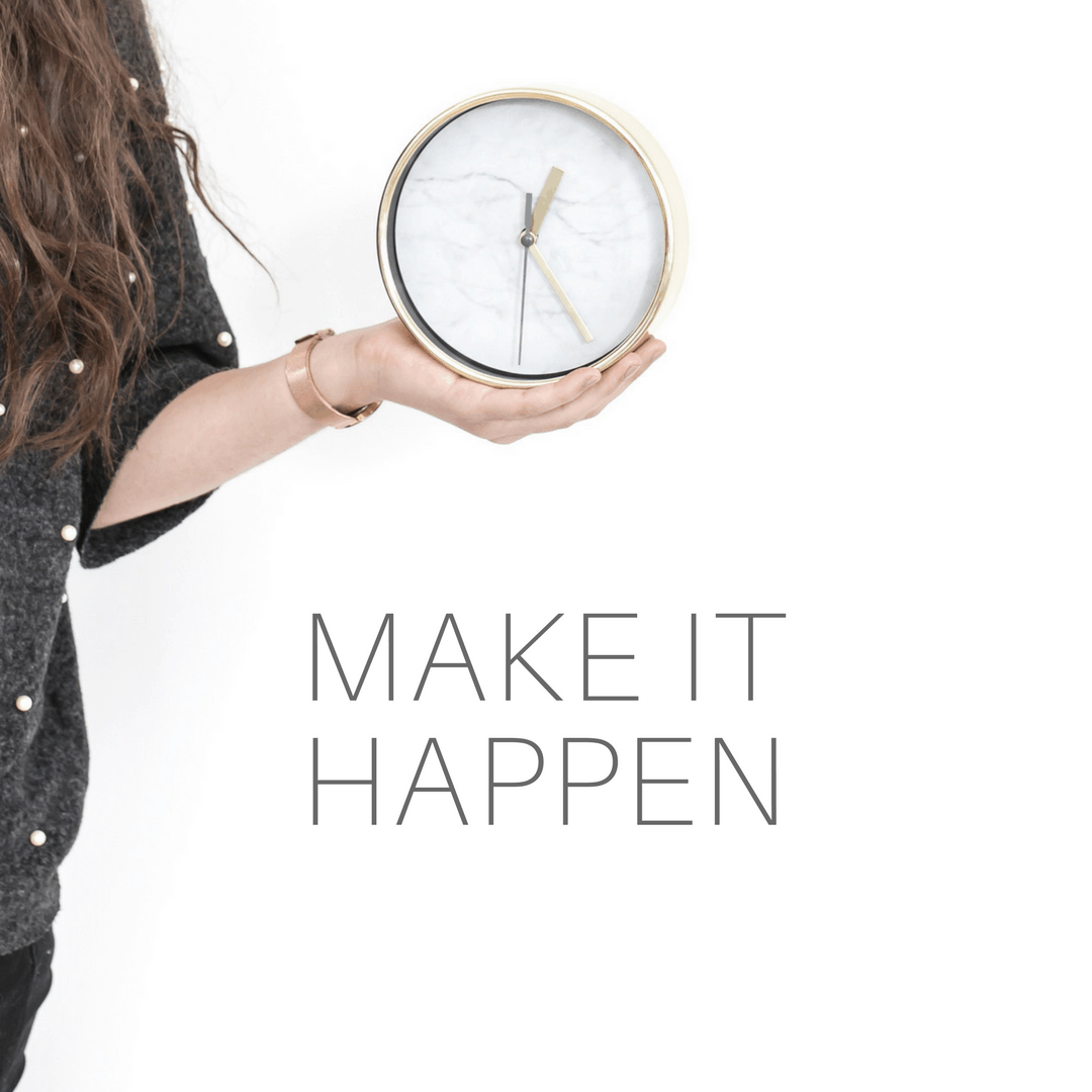 Make it happen by using the two-minute rule to focus and clear your head.