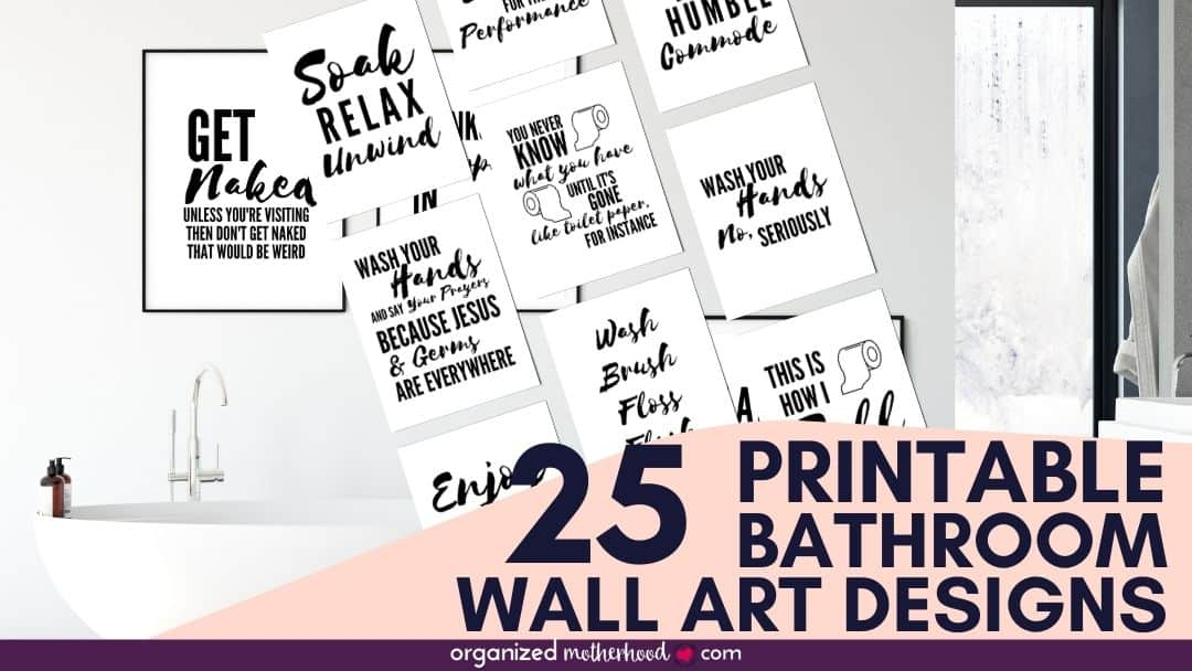 Printable Bathroom Art
