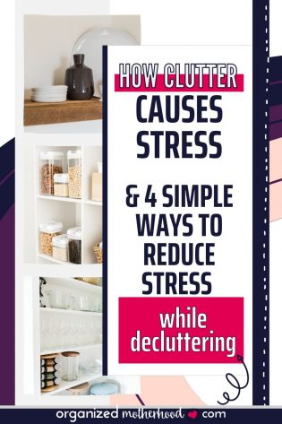 Stress comes from more than work and family >> Here's how clutter causes stress and 4 simple ways to reduce clutter-related anxiety in everyday life.