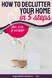 how to declutter your home in 5 steps