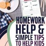simple tips to help kids organize schoolwork