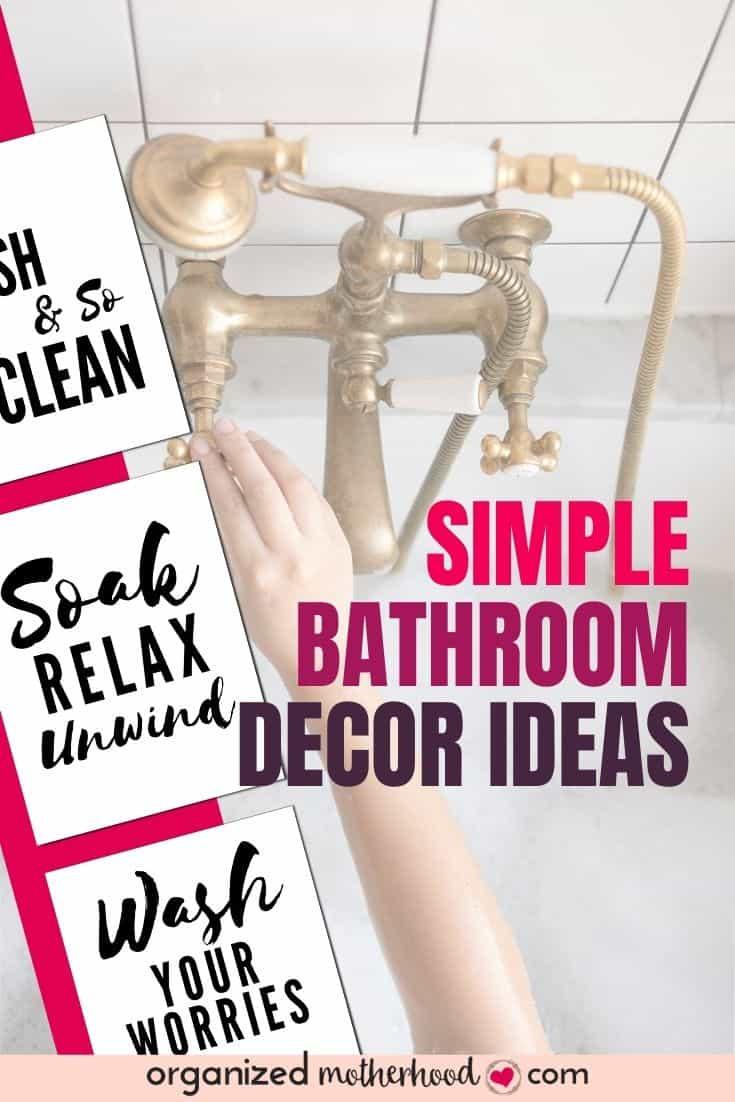 simple bathroom decor ideas you can add on a budget