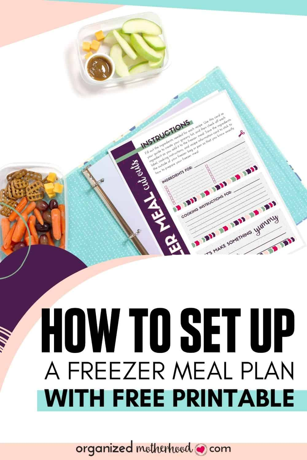 Printable freezer meal planning worksheet to create a meal plan out of freezer recipes.