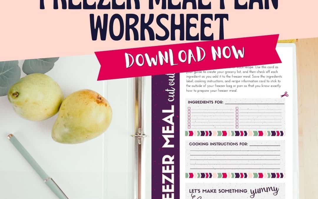 Freezer meal planning worksheet