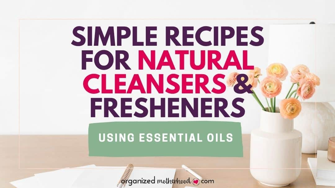 DIY cleaning sprays and solutions using natural products