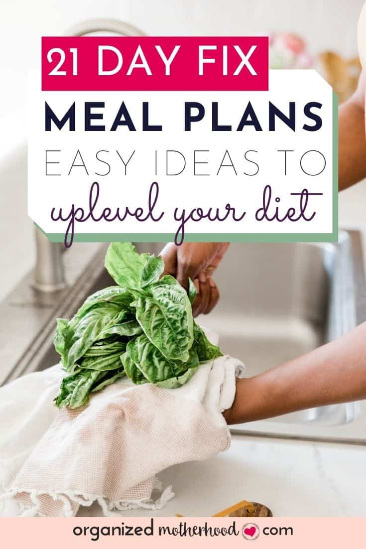 21 Day Fix meal plans - easy ideas to create a better meal plan to reach your exercise and diet goals.