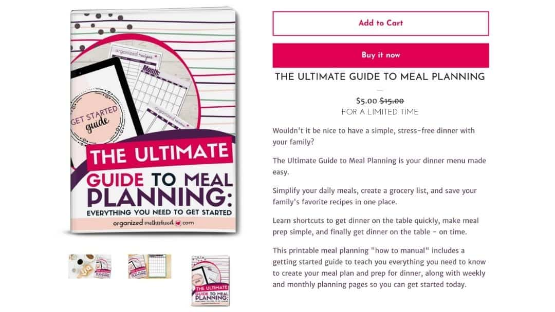 Add the Ultimate Guide to Meal Planning to Your Cart Now