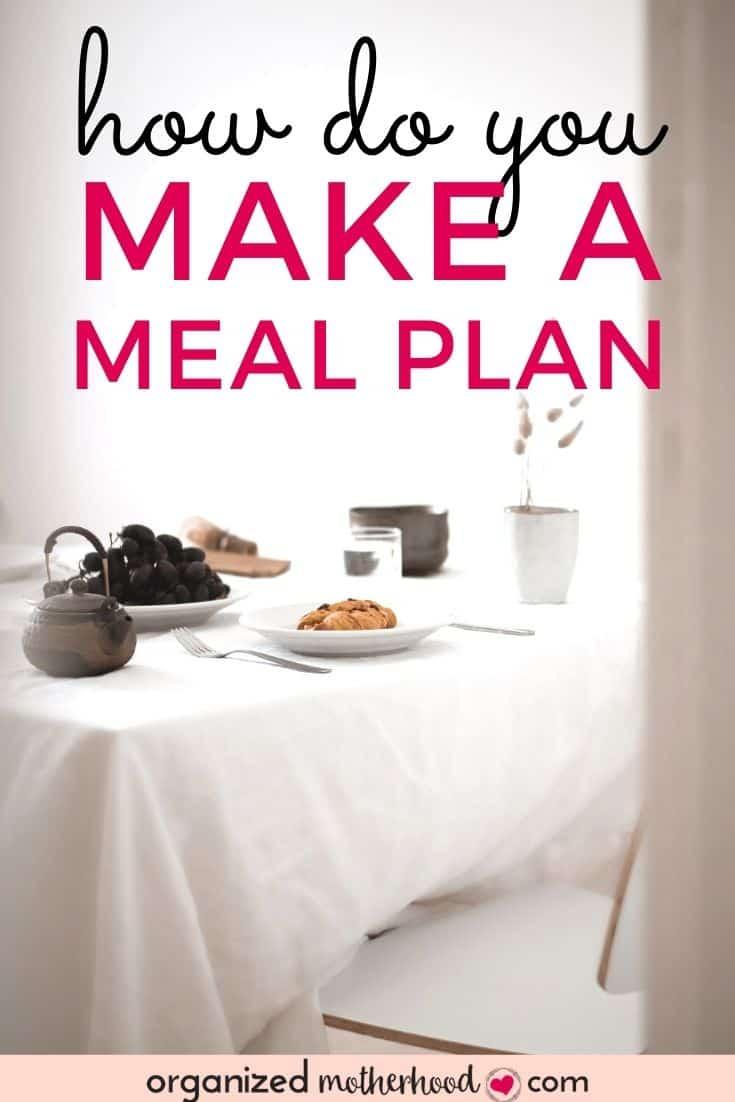 how do you make a meal plan