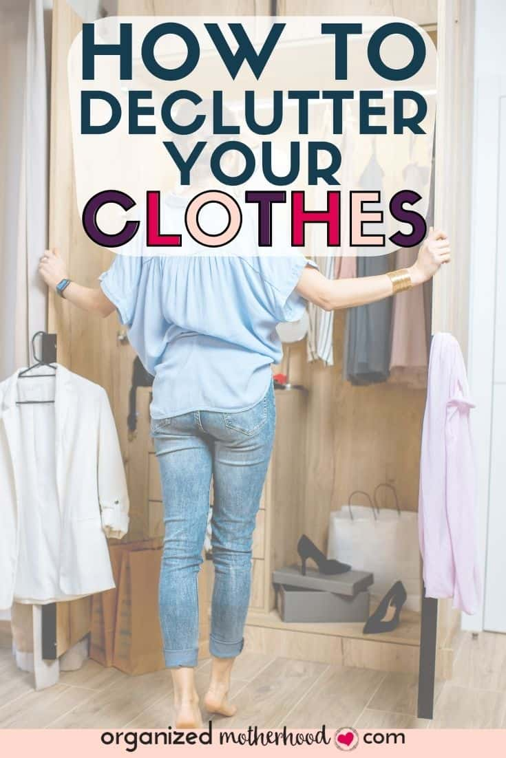 how to declutter clothes