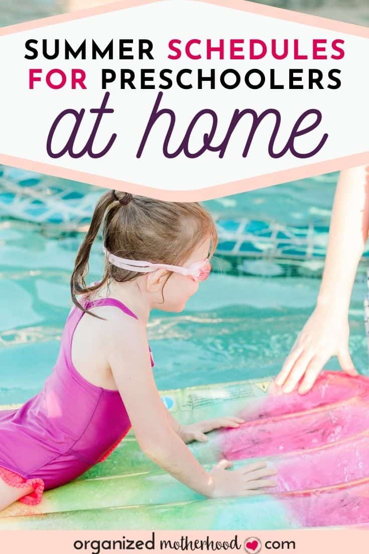 summer schedules for preschoolers at home