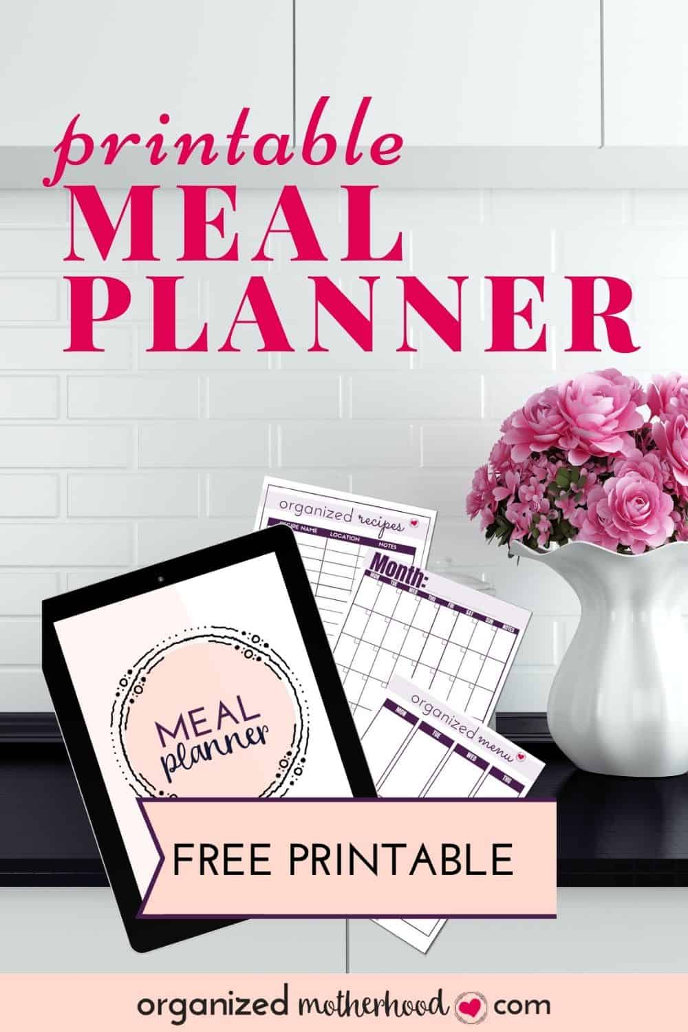 printable meal planner to create your weekly and monthly meal plans