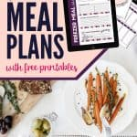 simple meal plans with free printable meal planners