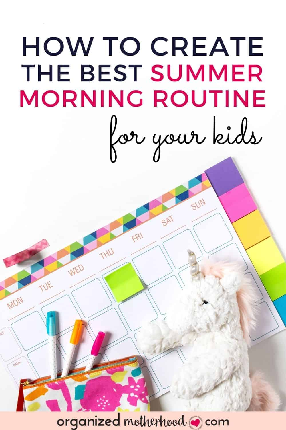 Create the best summer morning routine for kids with these simple tips.