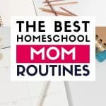 the best homeschool mom routines