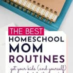 the best homeschool mom routines (get yourself and your kids on a schedule that works)
